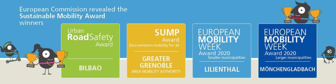 EVROPSKI TEDEN MOBILNOSTI:  Podeljene Evropske nagrade za urbano mobilnost
